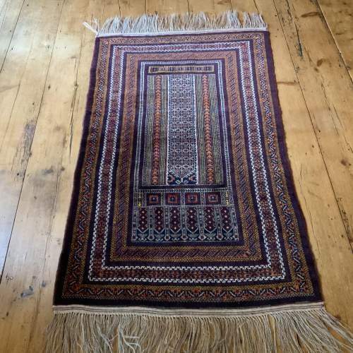 Superb Quality Hand Knotted Tchichaktu Baluch Prayer Rug image-3