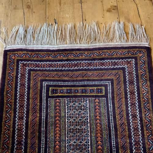 Superb Quality Hand Knotted Tchichaktu Baluch Prayer Rug image-4