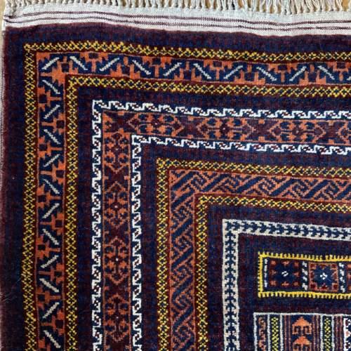 Superb Quality Hand Knotted Tchichaktu Baluch Prayer Rug image-5