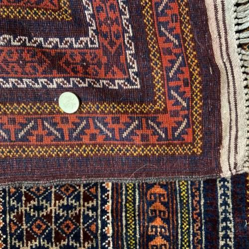 Superb Quality Hand Knotted Tchichaktu Baluch Prayer Rug image-6