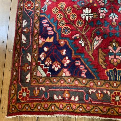 Beautiful Old Hand Knotted Persian Rug Hamadan Floral Medallion image-2