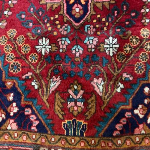 Beautiful Old Hand Knotted Persian Rug Hamadan Floral Medallion image-3