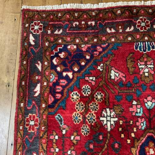 Beautiful Old Hand Knotted Persian Rug Hamadan Floral Medallion image-5