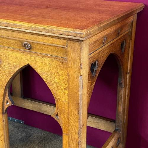 Early 20th Century Ecclesiastical Oak Alter Table image-4