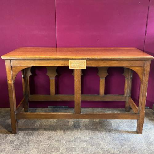 Early 20th Century Ecclesiastical Oak Alter Table image-6