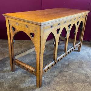 Early 20th Century Ecclesiastical Oak Alter Table
