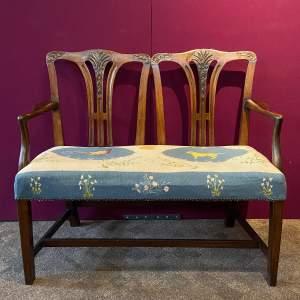 Victorian Mahogany Framed Double Back Settee