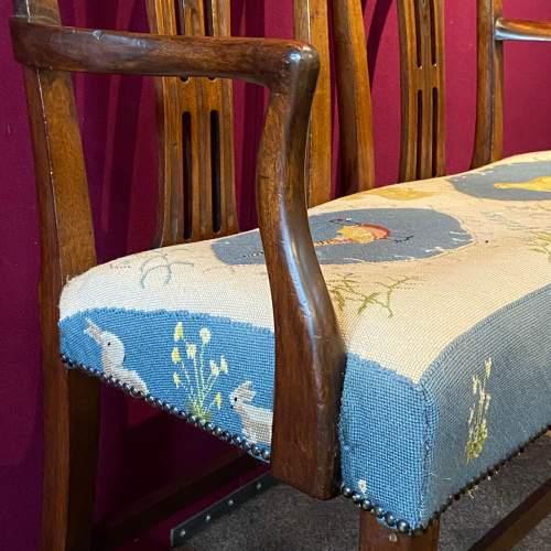 Victorian Mahogany Framed Double Back Settee image-4