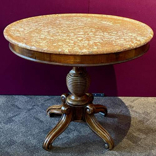 French Marble Top Gueridon Table image-1