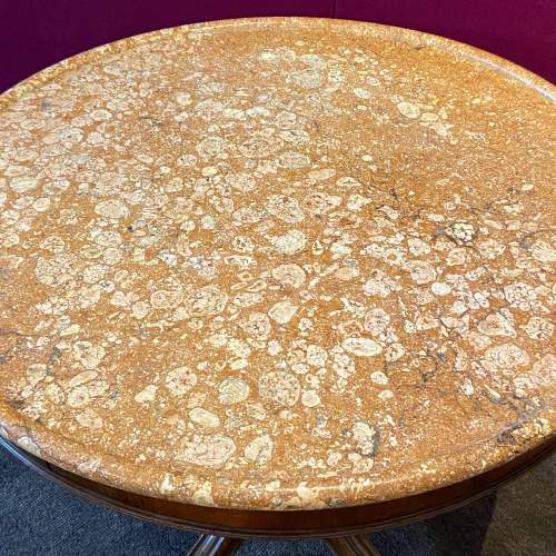 French Marble Top Gueridon Table image-2