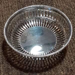 Beautiful Victorian Sterling Silver Bon Bon Dish Circa 1895