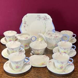 Shelley Regent Shape Cherry Blossom Pattern Tea Set
