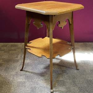 Arts and Crafts Oak Two Tier Occasional Table