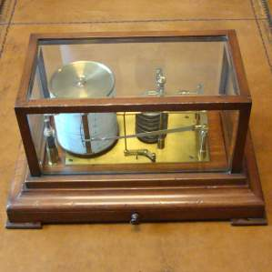 Edwardian Barograph in Mahogany Case
