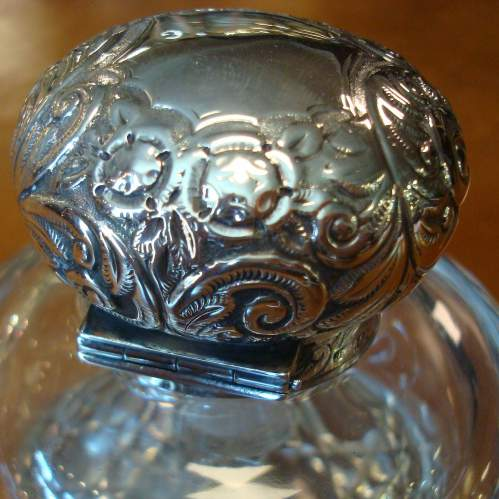 Victorian Silver Top Inkwell image-2