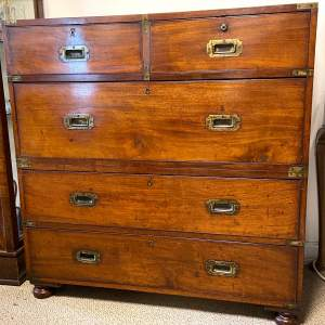 Late 19th Century Mahogany Campaign Chest of Drawers