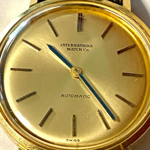 20th Century IWC Ladies 18ct Gold Watch image-4