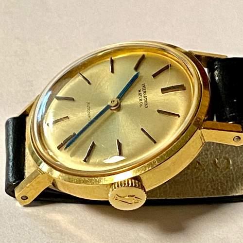 20th Century IWC Ladies 18ct Gold Watch image-3