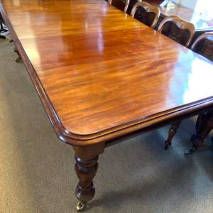 Regency Period Mahogany Windout Dining Table