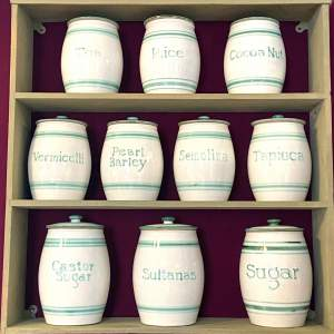 Vintage Set of 18 Bourne Denby Kitchen Storage Jars