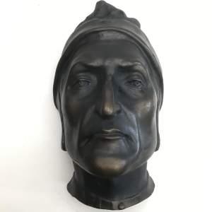 19th Century Plaster Dante Death Mask