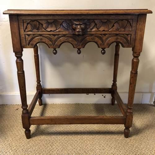 Carved Oak Hall Table image-1