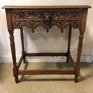 Carved Oak Hall Table