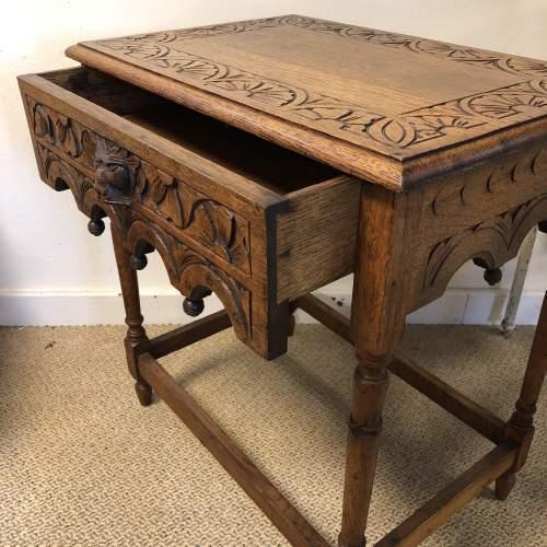 Carved Oak Hall Table image-2