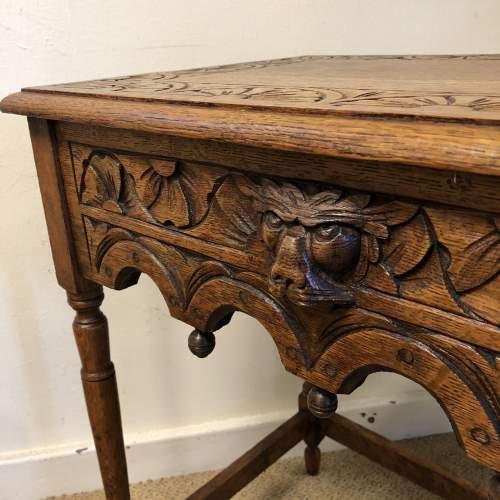Carved Oak Hall Table image-3