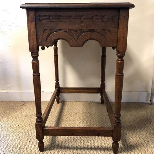Carved Oak Hall Table image-4