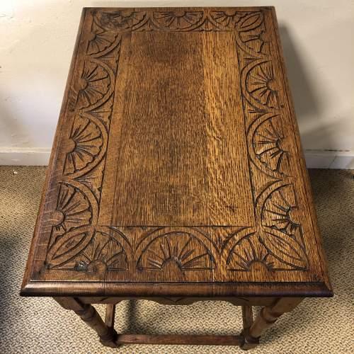 Carved Oak Hall Table image-5