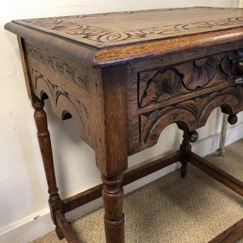Carved Oak Hall Table image-6