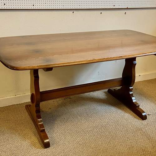 Ercol Golden Dawn Refectory Table and Four Dining Chairs image-3
