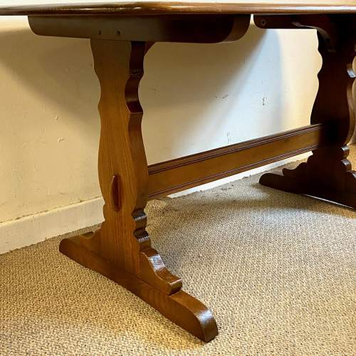 Ercol Golden Dawn Refectory Table and Four Dining Chairs image-4