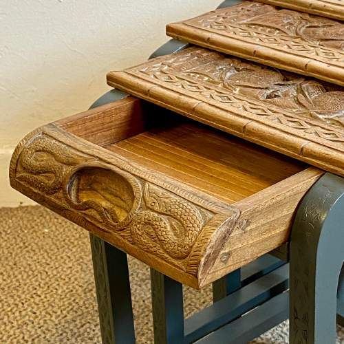 Nest of Four Oriental Carved Tables image-2
