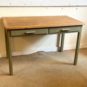 Vintage 20th Century Oak Top Painted Table