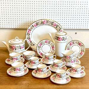 Royal Worcester Royal Garden 27 Piece Tea and Coffee Set