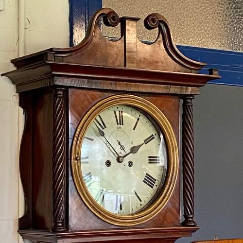 19th Century Mahogany Cased 8-Day Longcase Clock image-1