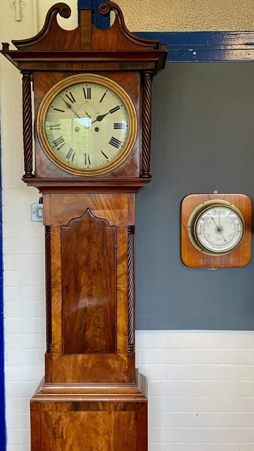 19th Century Mahogany Cased 8-Day Longcase Clock image-5