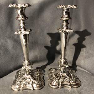 Pair of Quality Silver Plated Candlesticks