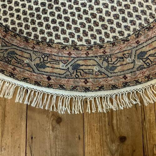 Old Hand Knotted Persian Round Rug Mir Seraban Very Unusual Piece image-2