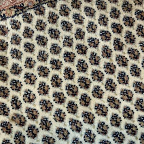 Old Hand Knotted Persian Round Rug Mir Seraban Very Unusual Piece image-4