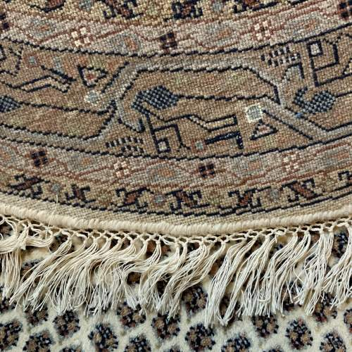 Old Hand Knotted Persian Round Rug Mir Seraban Very Unusual Piece image-6