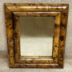 Late 19th Century Bamboo Wall Mirror