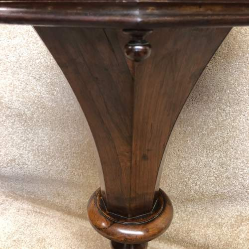 19th Century Rosewood Trumpet Work Table image-6
