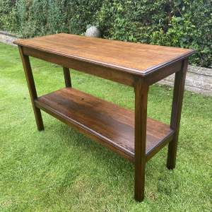 Late 19th Century Oak Two Tier Serving Table