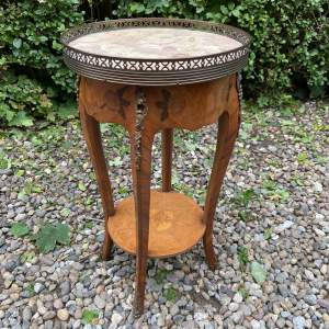 Marble Top French style Two Tier Table