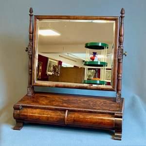 George III Mahogany Table Mirror