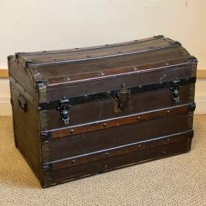 Victorian Domed Steamer Trunk