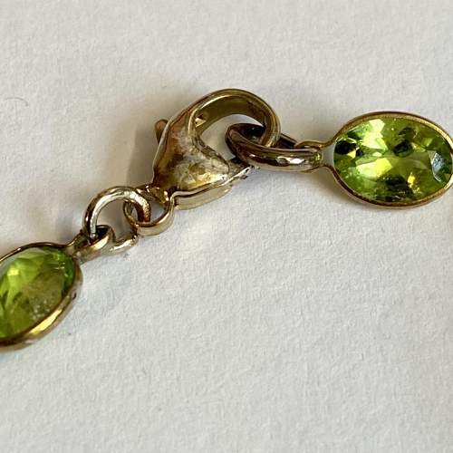 18ct Gold Plated over Silver and Peridot Bracelet image-3